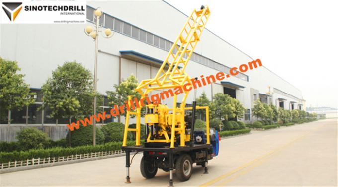 Portable Hydraulic Water Well Drilling Rig Tractor Mounted 200m