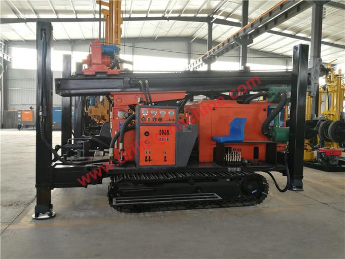 Crawler Mounted 400m Water Well Drilling Rig Full Hydraulic 95kw Engine